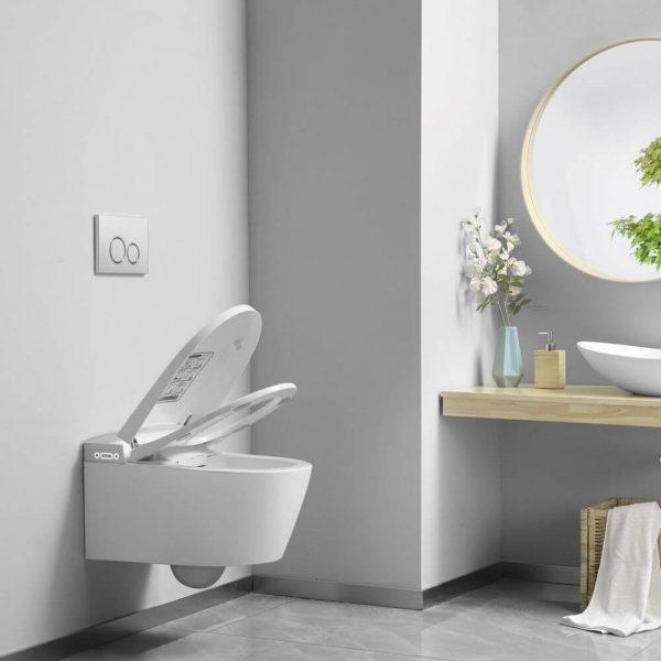 WC Japonais suspendu avec ouverture et fermeture automatique du couvercle